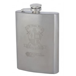 FLK-7008 8 OZ SILVER STAINLESS STEEL FLASK