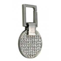 KC-4056 CRYSTAL ROUND SHAPE KEY HOLDER