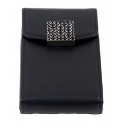 CR-8034 Swarovski Leather Card Holder