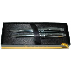 Cross Bailey Chrome Ballpoint Pen and 0.7 mm Pencil Set