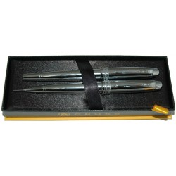 Cross Bailey Chrome Roller Ball Pen and 0.7 mm Pencil Set