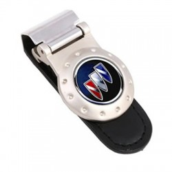 GS-7041 ROUND LEATHER MONEY CLIP